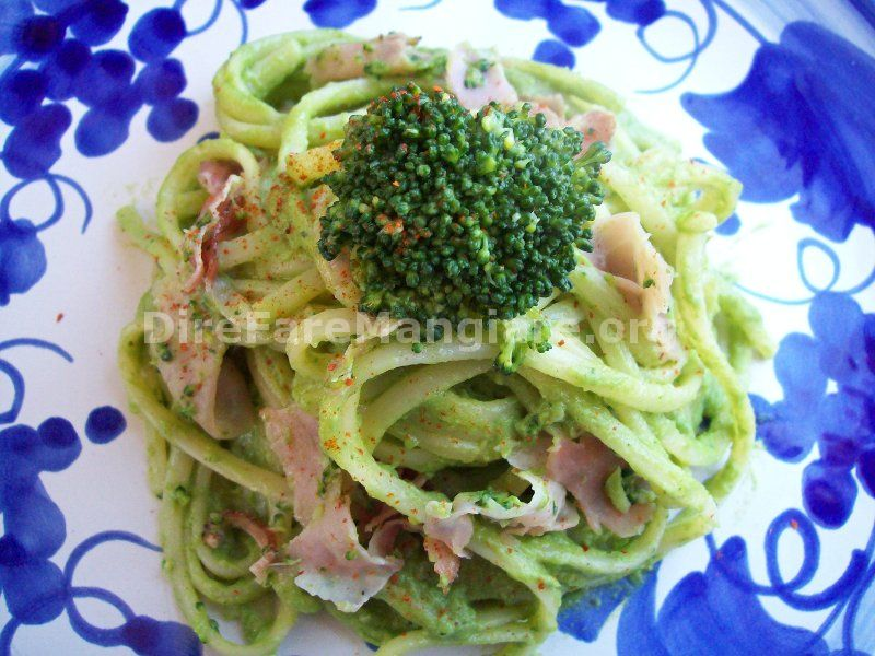 Linguine al pesto di broccoli