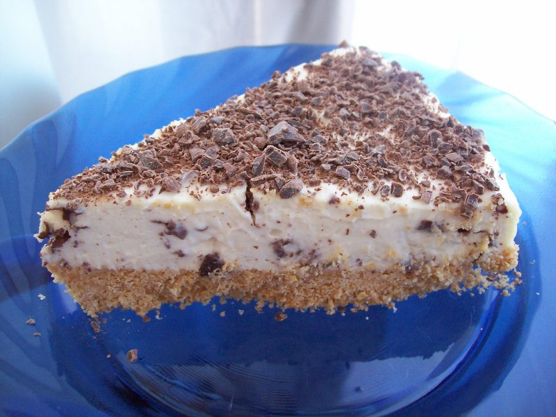 Cheesecake fredda allo yogurt e cioccolato